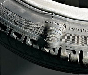 Грыжа шины