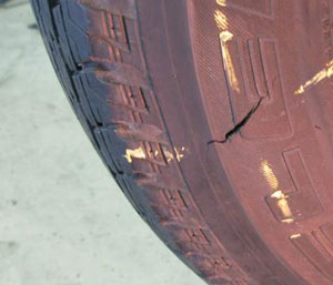 Боковой порез шины